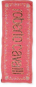 Roberto Cavalli Logo-Print Silk Stole Scarf