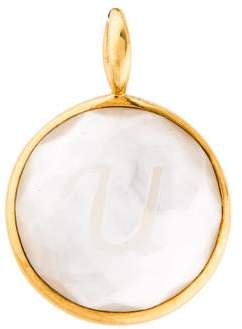 bc674874 Ippolita 18K Mother of Pearl & Quartz Doublet Lollipop Letter Pendant w/  Tags