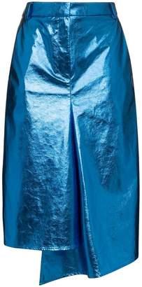 Tibi draped midi pencil skirt