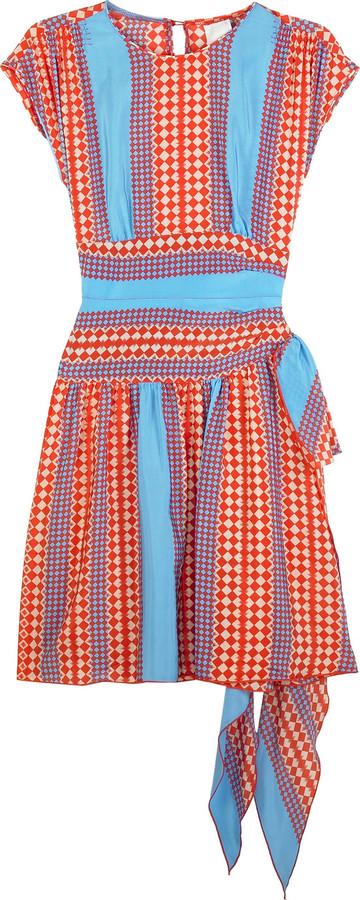 Anna Sui Checkerboard print dress