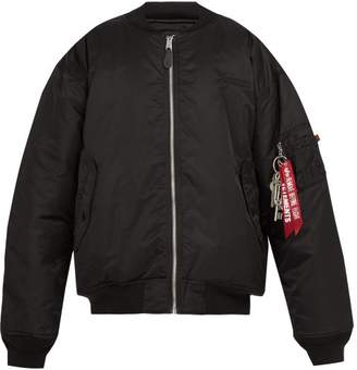 Vetements Reversible Padded Bomber Jacket - Mens - Black