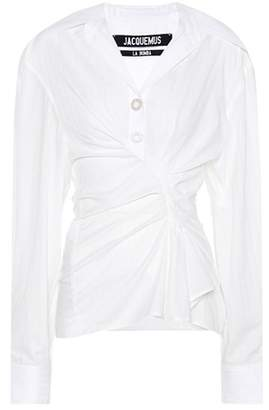 Jacquemus Le Chemise Maceio cotton shirt