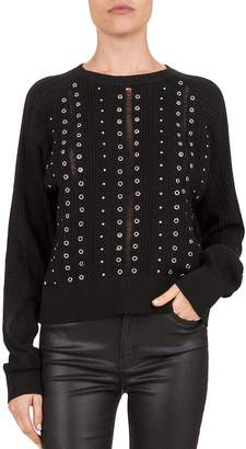 The Kooples Studded & Grommeted Sweater