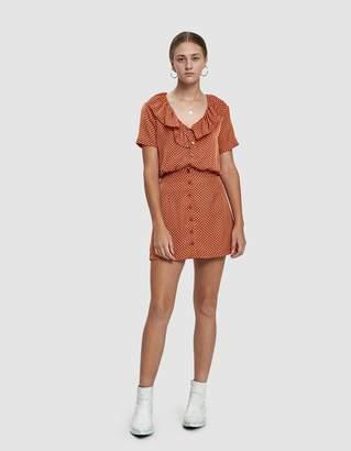 Farrow Val Polka Dot Mini Dress