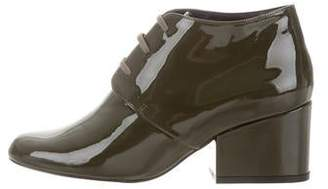 Rob-ert Robert Clergerie Patent Leather Round-Toe Booties w/ Tags