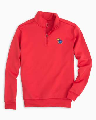 Southern Tide Gameday Performance 1/4 Zip Pullover - University of Kansas