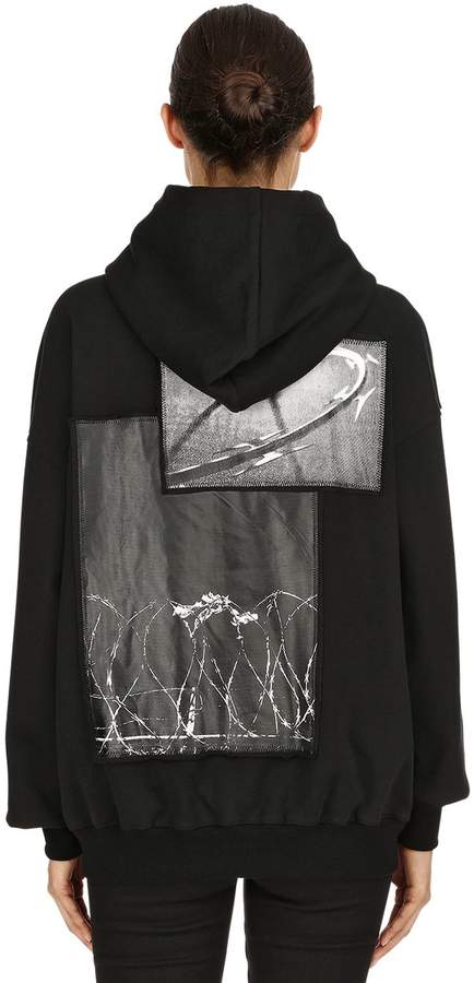 Printed Hooded Cotton Jersey Sweatshirt