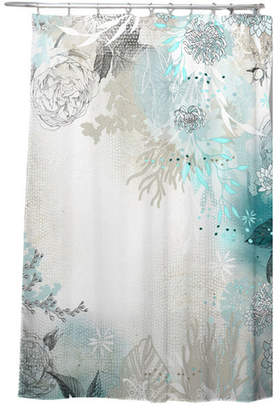 Bungalow Rose Holley Seafoam Shower Curtain