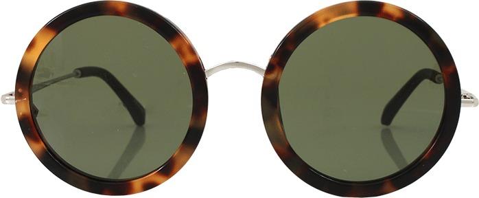 The Row Leather Stem Circle Sunglasses