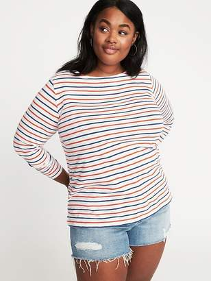 Old Navy Mariner-Stripe Plus-Size Boat-Neck Tee
