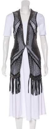 Haute Hippie Embroidered Knit Vest