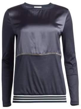 Fabiana Filippi Satin Stripe Long-Sleeve Shirt