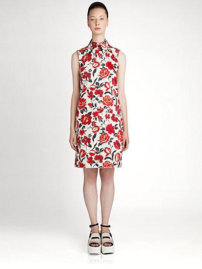 Jil Sander Navy Floral Dress