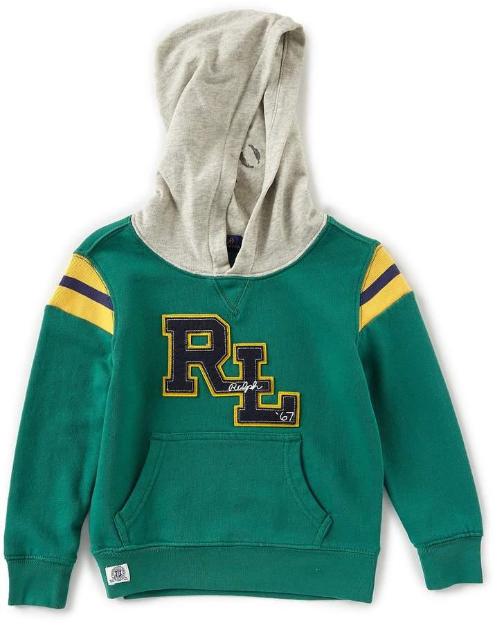 Ralph Lauren Childrenswear Little Boys 2T-7 Varsity-Inspired French Terry Hoodie