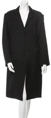 Yohji Yamamoto Wool-Blend Notch-Lapel Coat w/ Tags $375 thestylecure.com