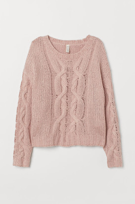 H&M Cable-knit Sweater - Pink