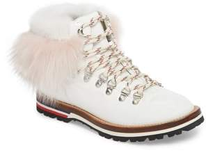 Moncler Solange Hiking Boot with Genuine Mink Fur Trim