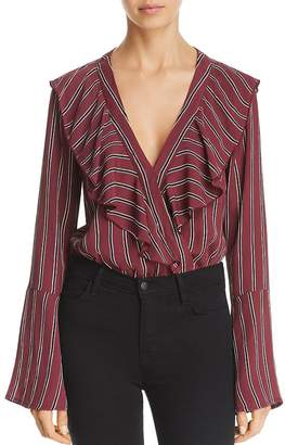 Band of Gypsies Audrey Striped Bell-Sleeve Bodysuit