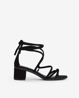 Express Lace-Up Block Heel Sandals