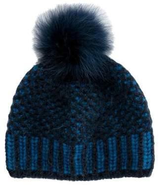 Inverni Fur-Trimmed Knit Beanie