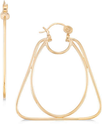 Simone I. Smith Oval and Triangle Hoop Earrings in 14k Gold over Sterling Silver