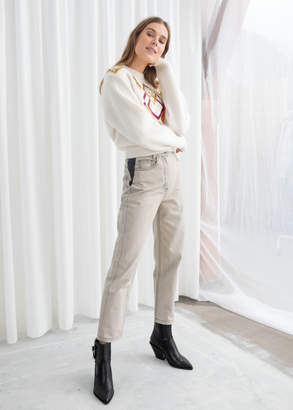 And other stories High Waisted Cotton Twill Pants