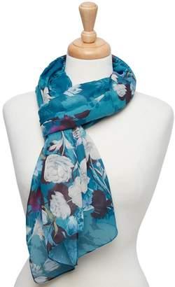 Joe Browns Dark Turquoise Delightful Floral Scarf