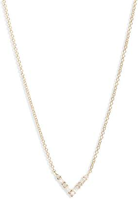 Ef Collection Diamond Baguette Pendant Necklace