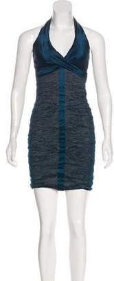 Nicole Miller Silk Halter Dress