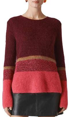 Whistles Sparkle Stripe Sweater