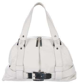 Michael Kors Leather Buckle Bowler Bag
