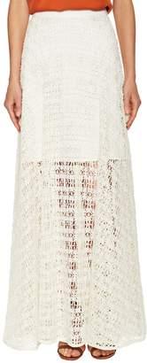 Milly Women's Raffia Netting Maxi Skirt