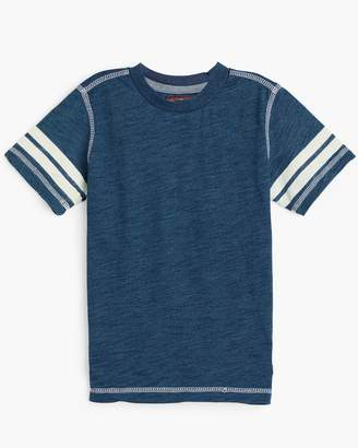 7 For All Mankind Boy's 4-7 Crew Neck Tee in Indigo Dipped