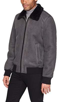 GUESS Men's Faux Suede Bomber Jacket