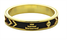 House of Harlow 1960 Plated Aztec Bangle