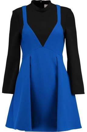 Victoria Victoria Beckham Wool-Paneled Crepe Mini Dress