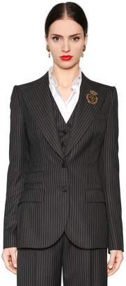 Dolce & Gabbana Pinstripe Cool Wool Jacket