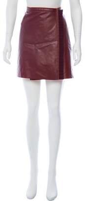 Philosophy di Alberta Ferretti Faux Leather Mini Skirt