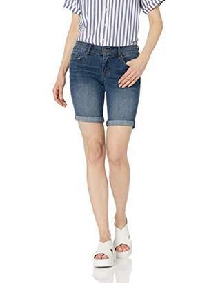 William Rast Women's Bermuda Roll Cuff Denim Shorts