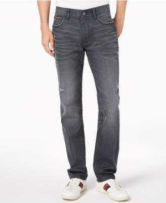 Tommy Hilfiger Men's Coated Straight Fit Stretch Jeans
