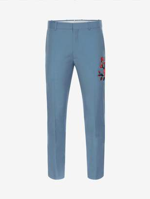 Alexander McQueen Floral Embroidered Pants