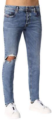 Diesel Sleenker Destroyed Skinny Jeans