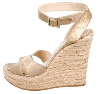 Jimmy Choo Suede Platform Wedge Sandals