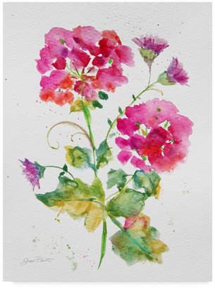 "Jean Plout 'Watercolor Flowers 1' Canvas Art - 24"" x 32"""