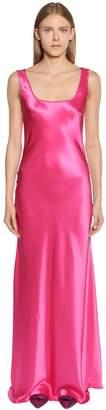 Alberta Ferretti Silk Satin Long Dress
