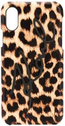 Karl Lagerfeld Paris Signature Leopard iPhone X/Xs case