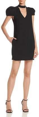 BCBGMAXAZRIA Choker-Neck Puff-Sleeve Dress