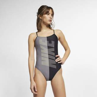 Nike Women's Cut-Out One-Piece Swimsuit Rift