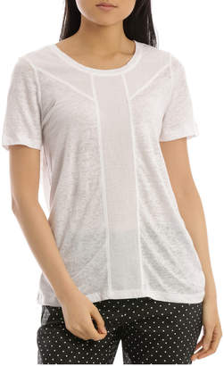 Regatta Short Sleeve Linen Blend Insert Detail Tee