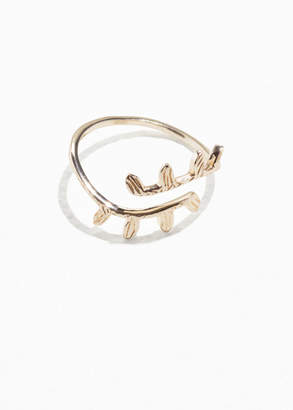 Wrapping Olive Branch Ring